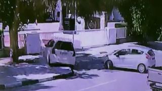 KKTC'de araç ters yöne girdi