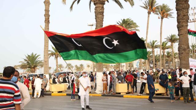 Libyada güvenoyu kararı protesto edildi