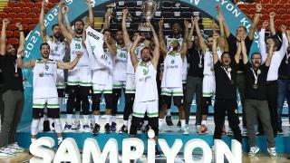 Erkekler Federasyon Kupası'nda şampiyon Manisa Büyükşehir Belediyespor'un