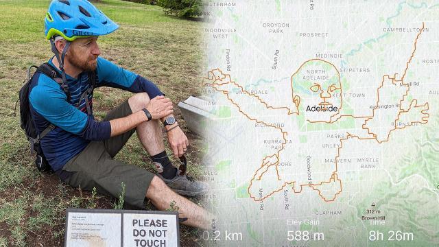 Avustralyalı bisikletçi Nirvananın ünlü albüm kapağını GPS iziyle çizdi
