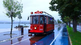 Ordu sahiline nostaljik tramvay