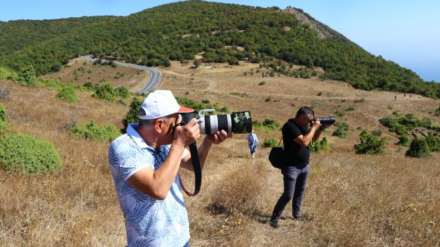 Tekirdağda fotoğraf tutkunları Ganos Dağı eteklerinde buluştu