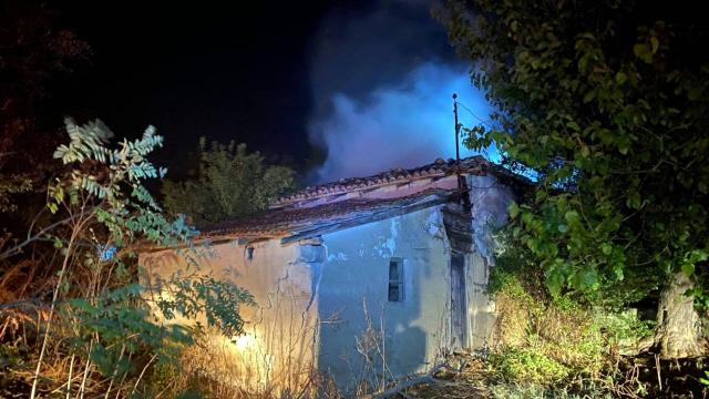 Tekirdağda yangın: 2 ev kullanılamaz hale geldi