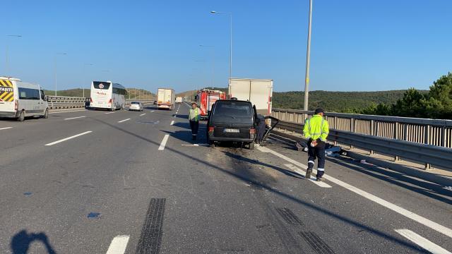 Kuzey Marmara Otoyolunda trafik kazası: 2 ağır yaralı