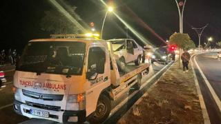Domuz sürüsü zincirleme kazaya neden oldu: 2 yaralı