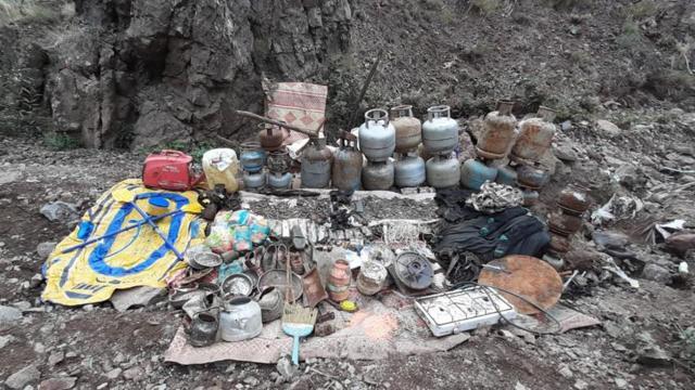 Tunceli kırsalında terör yuvaları imha edildi