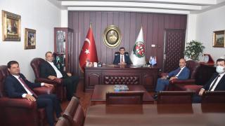 Adana Emniyet Müdürü Doğan İnci, Baro Başkanı Samih Gökayaz'ı ziyaret etti