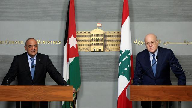Lübnan Başbakanı Mikati, Ürdünlü mevkidaşı Hasavne ile görüştü