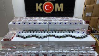 Samsun'da iş yerinden 14 bin 600 adet kaçak makaron çıktı