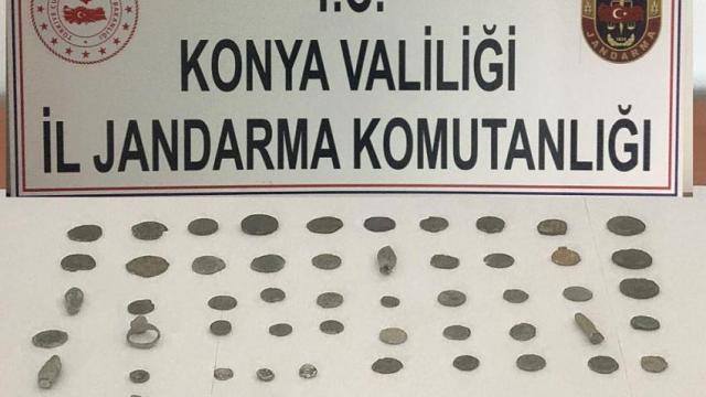 Konyada tarihi eser niteliğinde 54 obje yakalandı