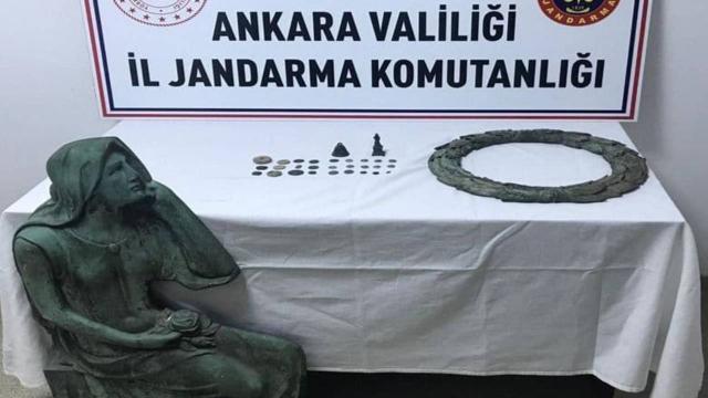 Ankarada tarihi eser kaçakçılığı operasyonu: 2 gözaltı