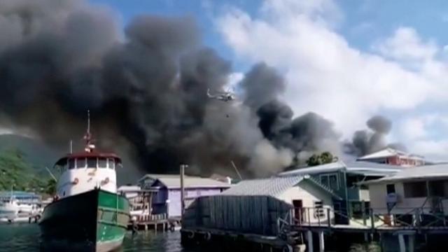 Hondurasın Guanaja Adasında yangın: 4 yaralı