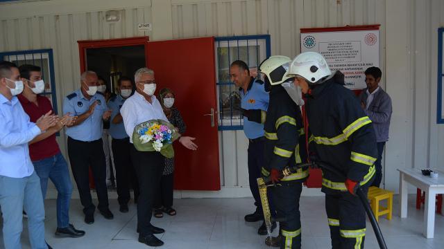Gaziantepte yangın ihbarına giden itfaiye ekibine sürpriz kutlama