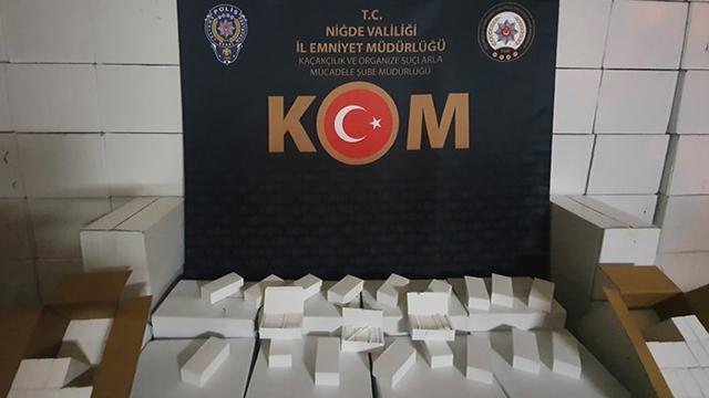 Tırın içinden 2 milyon 300 bin kaçak makaron çıktı