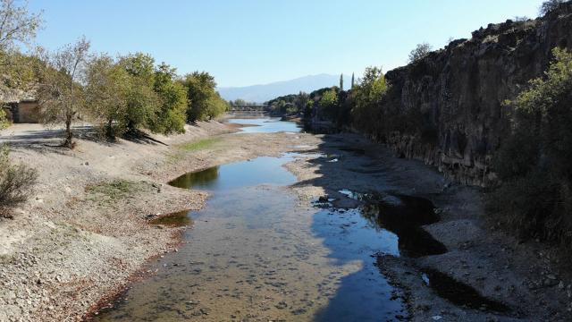 Adala Kanyonunda sular çekildi