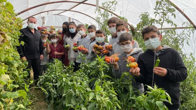 Bayburtta öğrencilerin yetiştirdiği ata tohumları köylülere dağıtılıyor