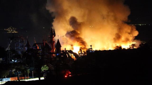 Bodrumda otel lojmanında yangın