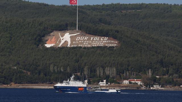 Rus Donanmasına ait tanker, Çanakkale Boğazından geçti