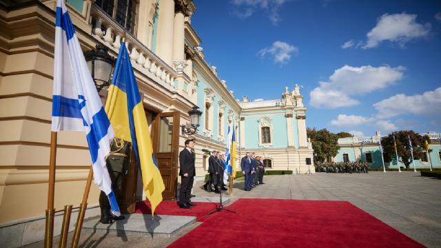 Ukrayna Devlet Başkanı Zelenskiy İsrail Cumhurbaşkanını ağırladı