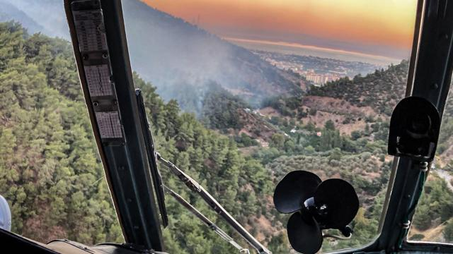 Muğlada çıkan orman yangınına müdahale ediliyor