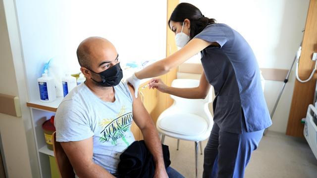 Kırklarelinde aşı çalışmalarına yoğun ilgi