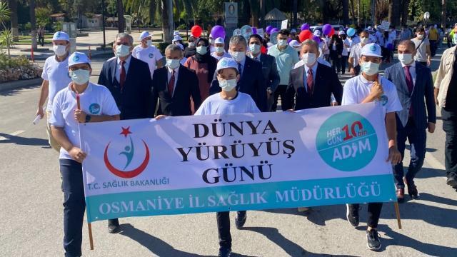 Osmaniyede `Dünya Yürüyüş Günü` etkinliği düzenlendi