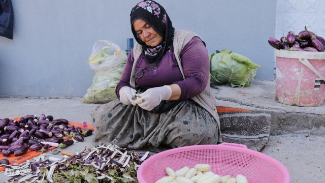 Tescilli patlıcan bir asırdır kadınlara kazanç kapısı oluyor