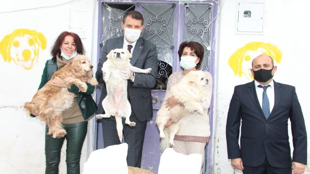 Sivas Valisi Salih Ayhandan hayvanseverlere ziyaret