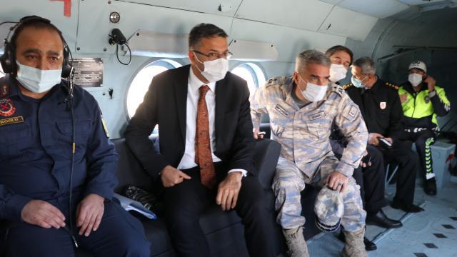 Kütahyada helikopterle trafik denetimi yapıldı