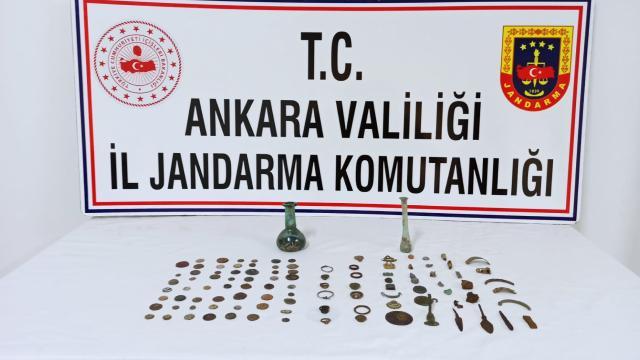 Ankarada 107 tarihi eser ele geçirildi