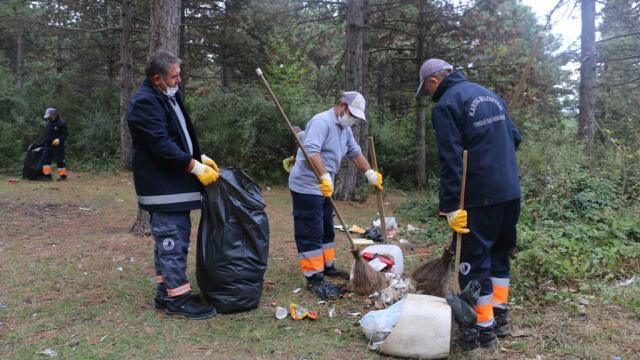 Aydos Ormanında temizlik yapıldı