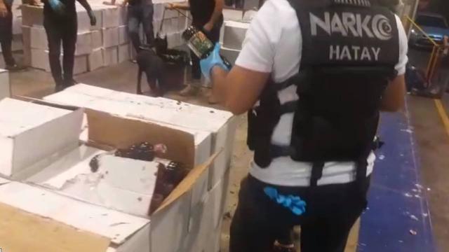 İskenderun Limanında 200 kilogram uyuşturucu hap ele geçirildi