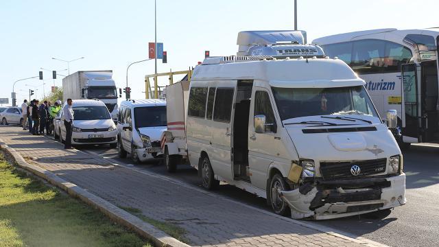 Gaziantepte zincirleme kaza: 2 yaralı