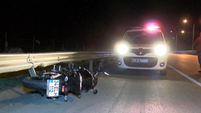 Çekmeköyde motosiklet kazası