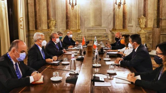 TBMM Başkanı Şentop, P20 Zirvesi kapsamında mevkidaşlarıyla görüştü