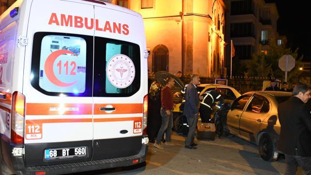 Gümüşhanede trafik kazası: 4 yaralı