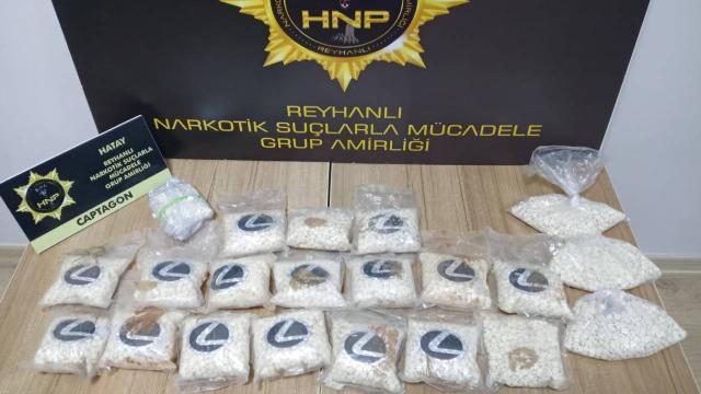 Hatayda 21 bin 600 uyuşturucu hap ele geçirildi