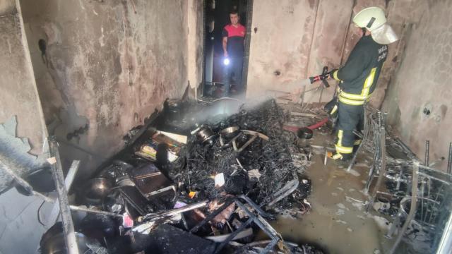 Muğlada evde çıkan yangın söndürüldü