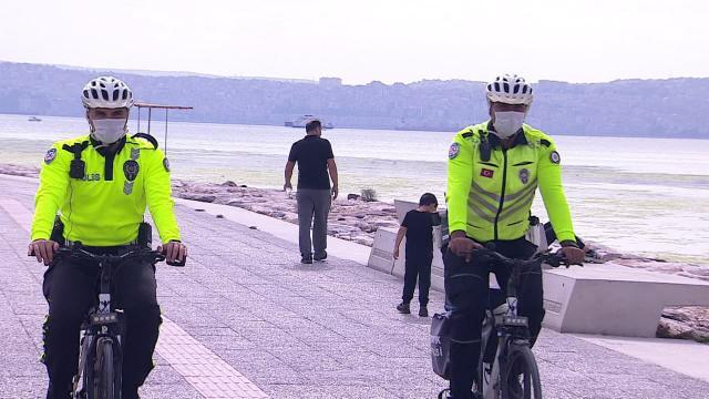 """""""Beyaz Kırlangıçlar"""" denetimde: Bisiklet yolunu kullananlara 8 bin lira ceza"""