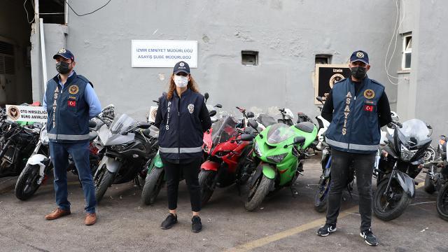 İzmirde motosiklet ve otomobil hırsızlığı: 10 gözaltı