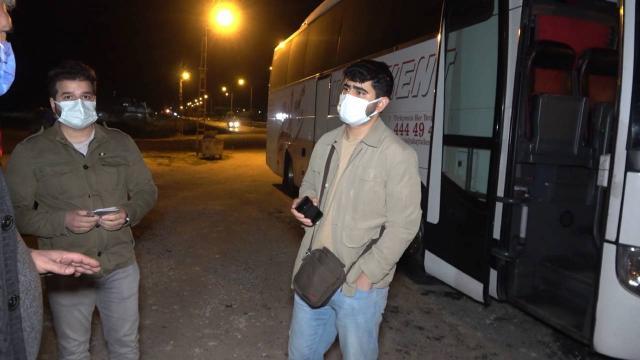 Karantinayı ihlal etti, yolcu otobüsünde yakalandı