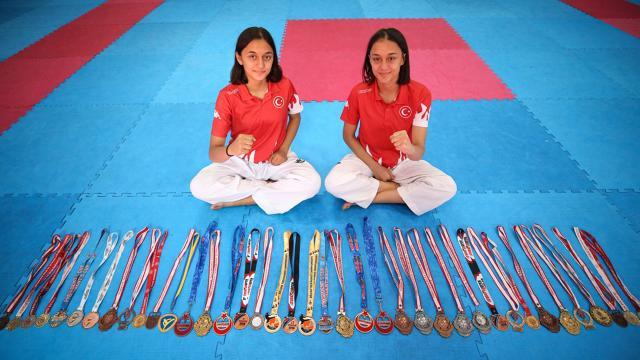 """""""Madalya avcısı"""" tekvandocu ikizlerin hedefi Avrupa şampiyonluğu"""
