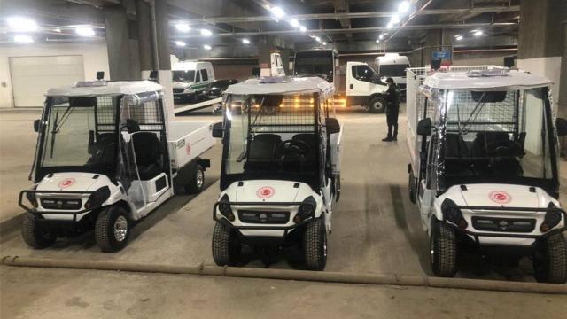TBMMde yerli elektrikli mini kamyonetler kullanılmaya başlandı