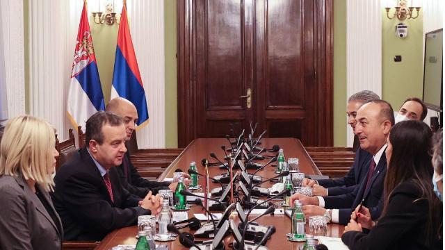 Bakan Çavuşoğlu, Sırbistan Ulusal Meclis Başkanı Dacic ile görüştü