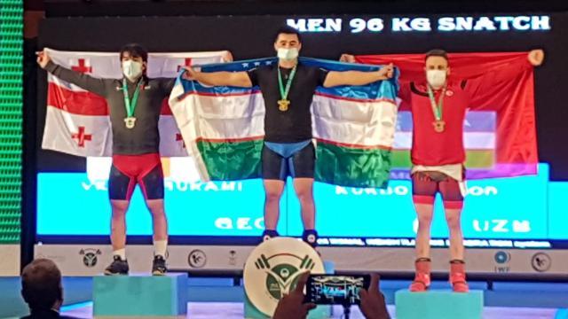 Milli halterci Muhammed Emin Burun bronz madalya kazandı