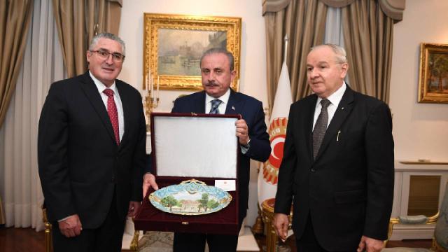 TBMM Başkanı Şentoptan Parlatino Başkanı Soto onuruna yemek