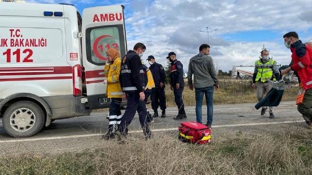 Kastamonuda midibüs devrildi: 12 polis yaralandı