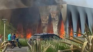 Mısır'da festival alanında korkutan yangın