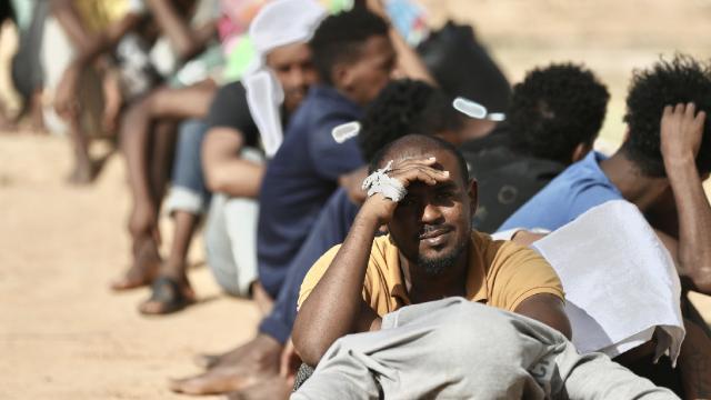 Libyada göçmenler ülkeden güvenli çıkış istiyor