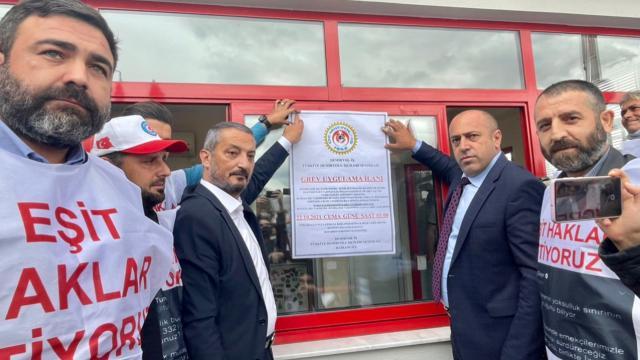Sonuç alınamadı, İzmir Metro AŞnin kapısına grev kararı asıldı